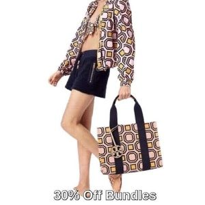 Tory Burch   Printed Tote, Octagon Square